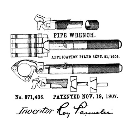 Patent-photo-1907-Roy-Parmelee